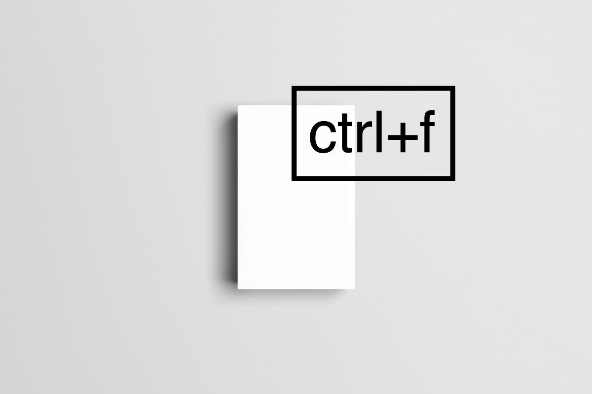 ctrl+f / web agency
