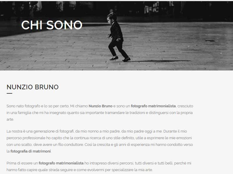 About Page di Nunzio Bruno