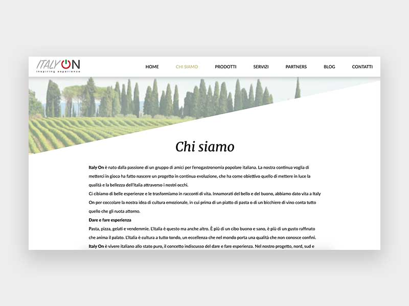 About Page ItalyOn
