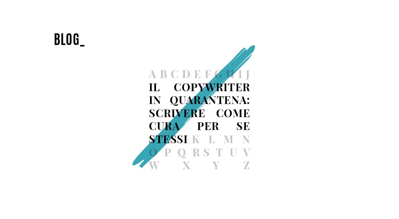 Il copywriter in quarantena_racconti di vita