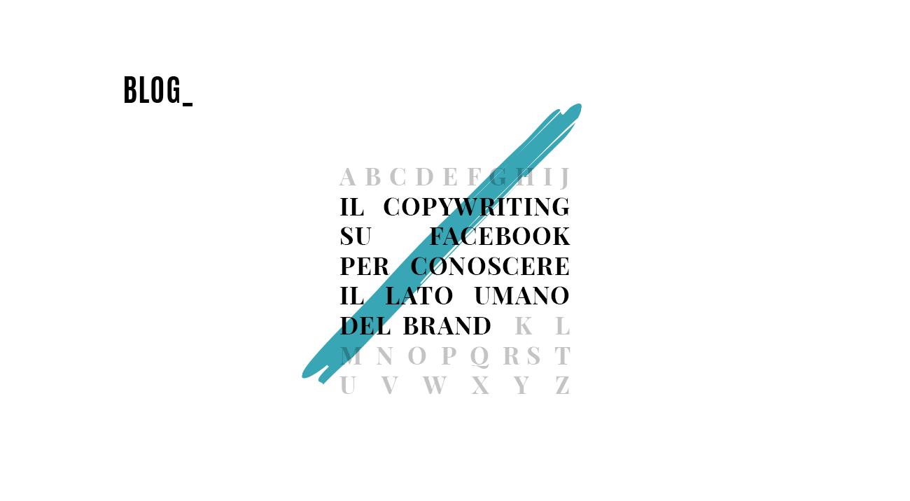 Copywriting su Facebook e lato umano del brand